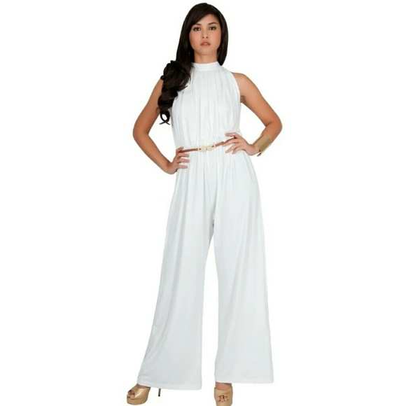 a7a2d83acd8b6 koh koh Pants | Nwt White Jumper Size M | Poshmark